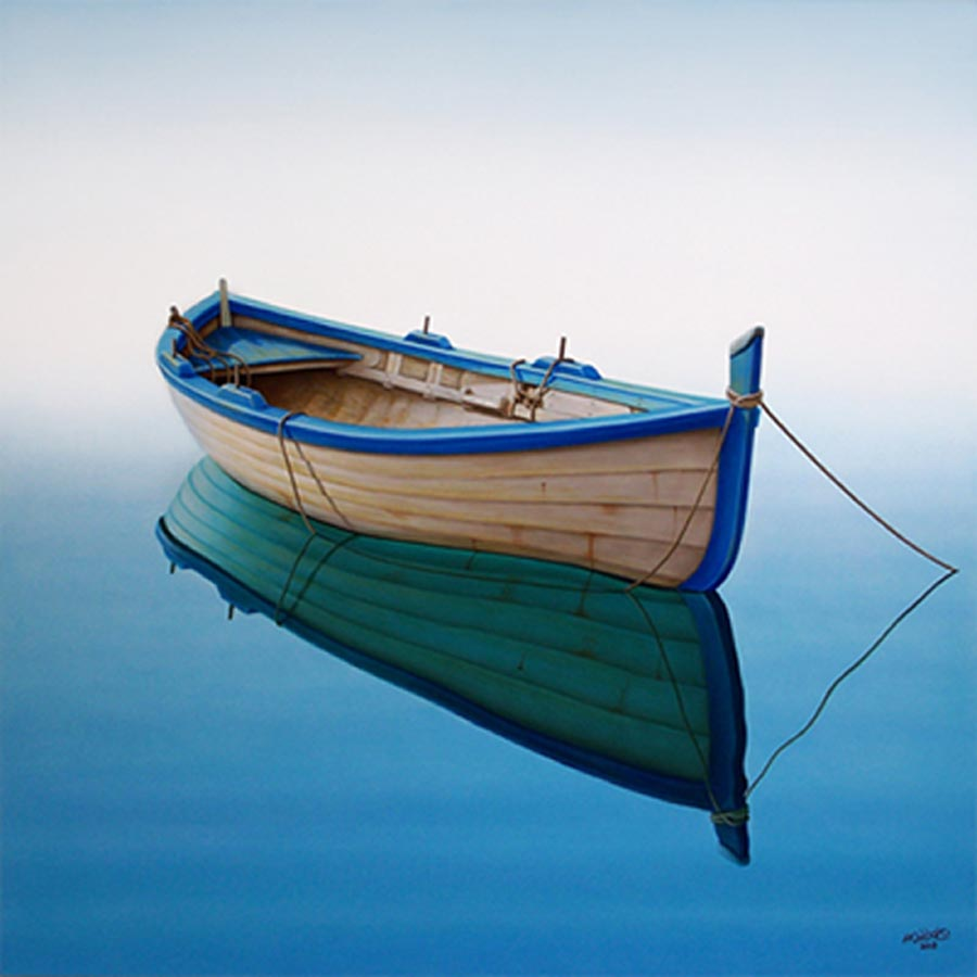 boat in tranquil bay original